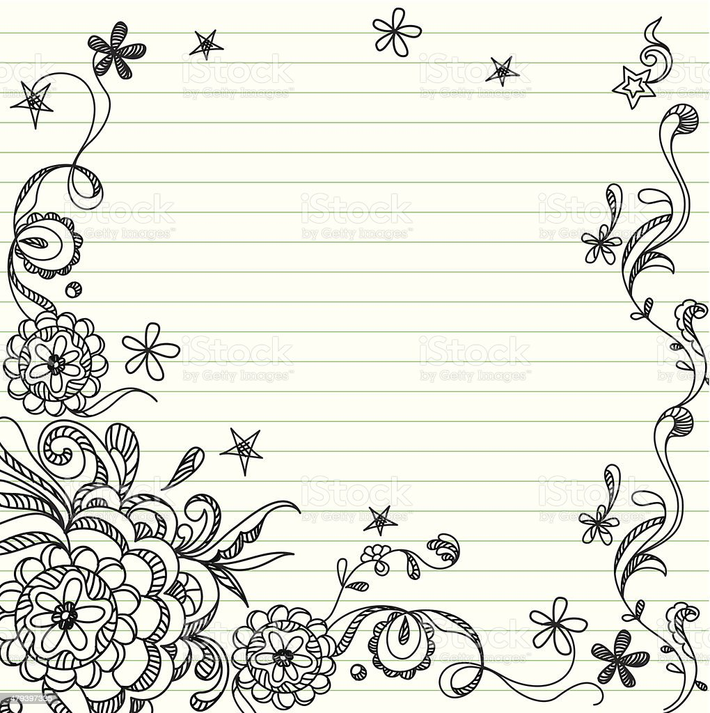 doodle template stock vector art more images of back to school