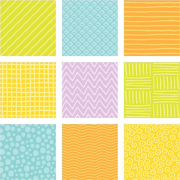 Doodle Tiles Seamless, hand-drawn background pattern tiles. Colors easily editable. crisscross stock illustrations