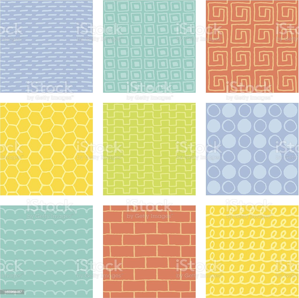 Doodle Tiles vector art illustration
