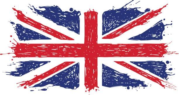 落書き英国国旗 - ユニオンジャックの国旗点のイラスト素材/クリップアート素材/マンガ素材/アイコン素材