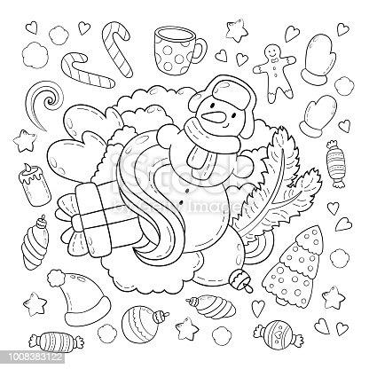 istock Doodle vector Ilustración, antecedentes, textura, patrón, Fondo ...