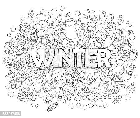 ᐈ Imagen De Doodle Vector Ilustración Antecedentes Textura