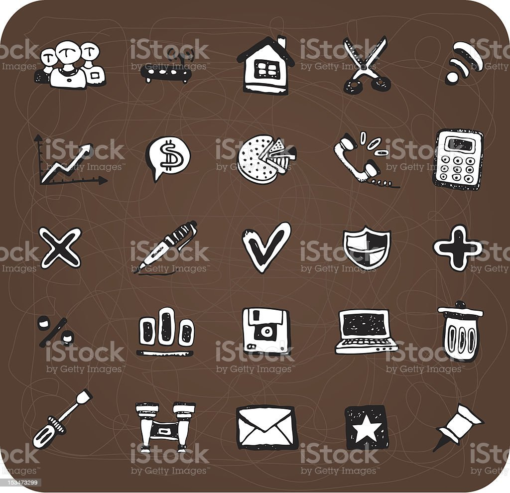Doodle web and office icons royalty-free doodle web and office icons stock vector art & more images of address book
