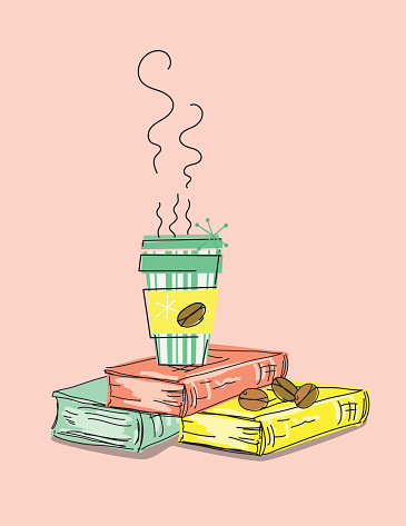 Doodled Coffee And Books