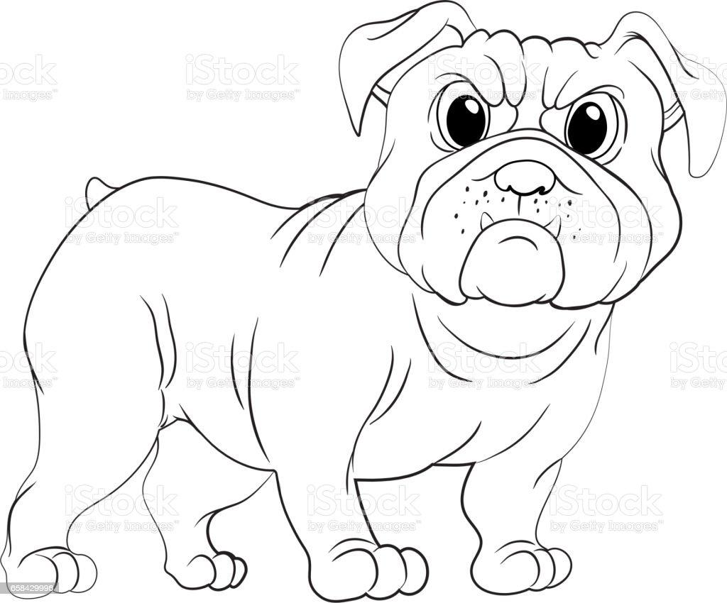 Kritzeleien Ausarbeitung Tier Fur Mops Hund Stock Vektor Art Und