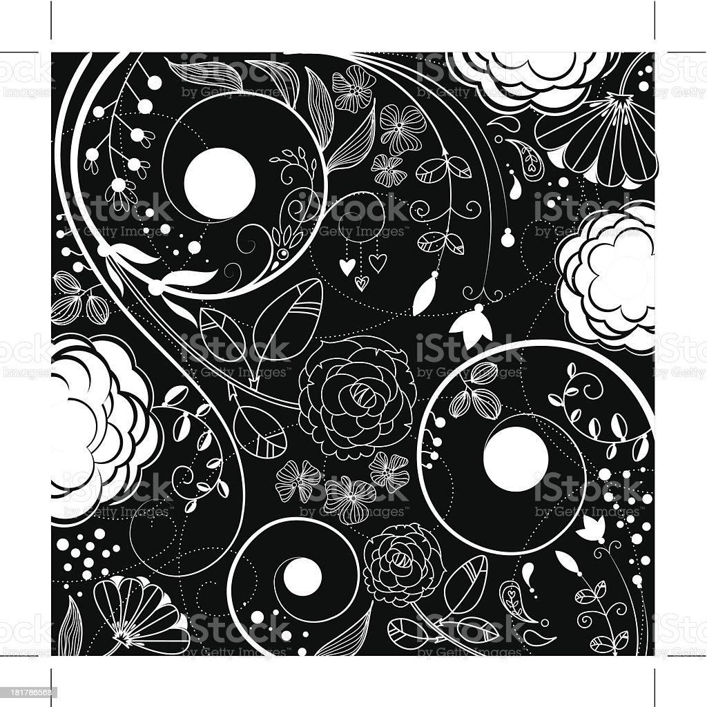 doodles flowers80 royalty-free stock vector art