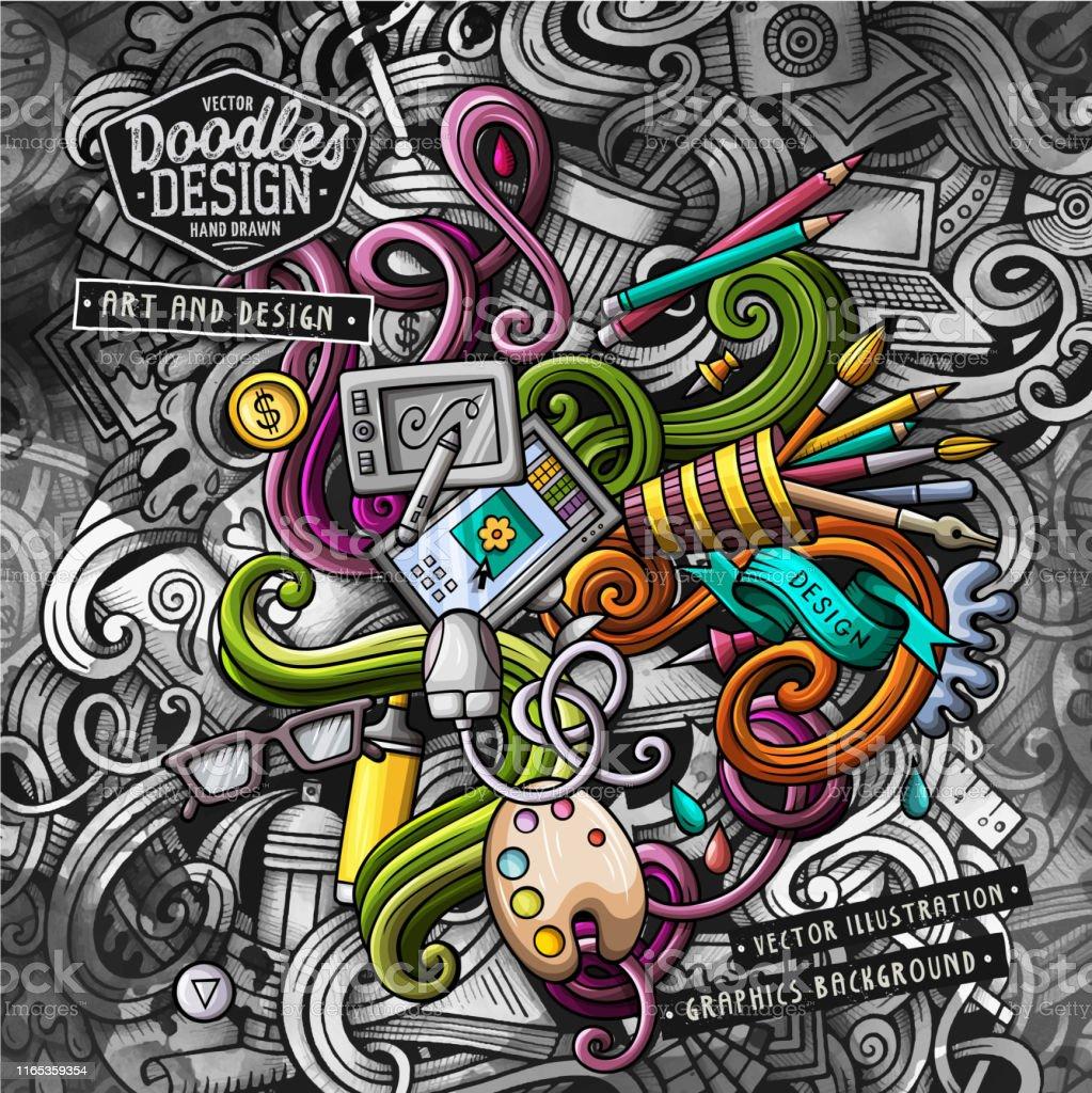 Doodles Graphic Design Vector Illustration Creative Art Background Stock Illustration Download Image Now Istock