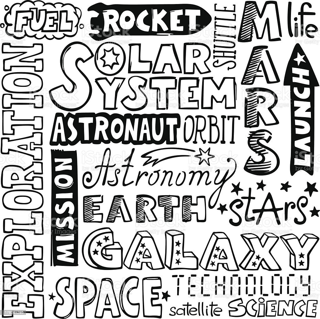 doodles - hand-drawn space text words royalty-free doodles handdrawn space text words stock vector art & more images of art
