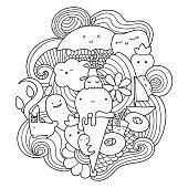 Doodles ice cream.