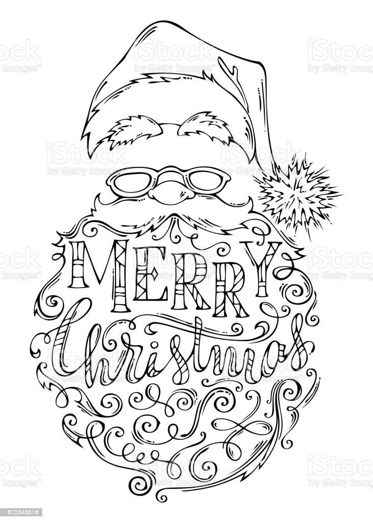 Schriftzug Frohe Weihnachten.Doodles Schriftzug Frohe Weihnachten Stock Vektor Art Und Mehr
