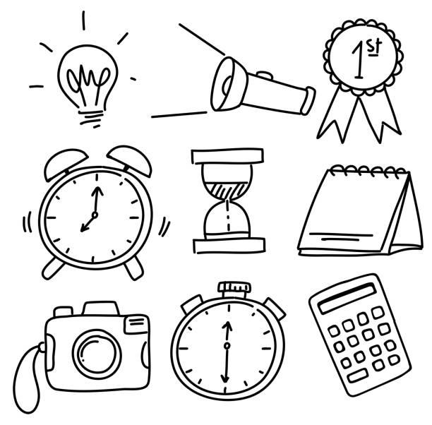 Kritzeleien von verschiedenen Objekten – Vektorgrafik