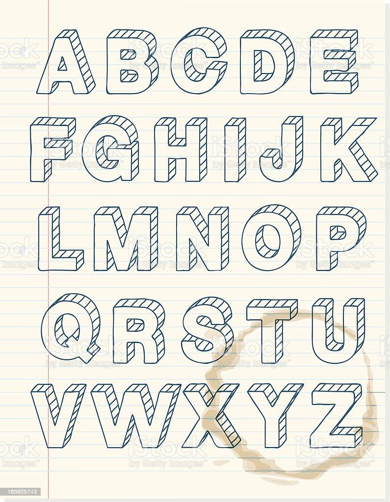 Doodly Alphabet Design Stock Illustration - Download Image