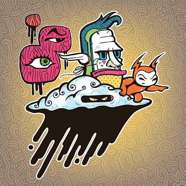 Doom Cloud vector art illustration