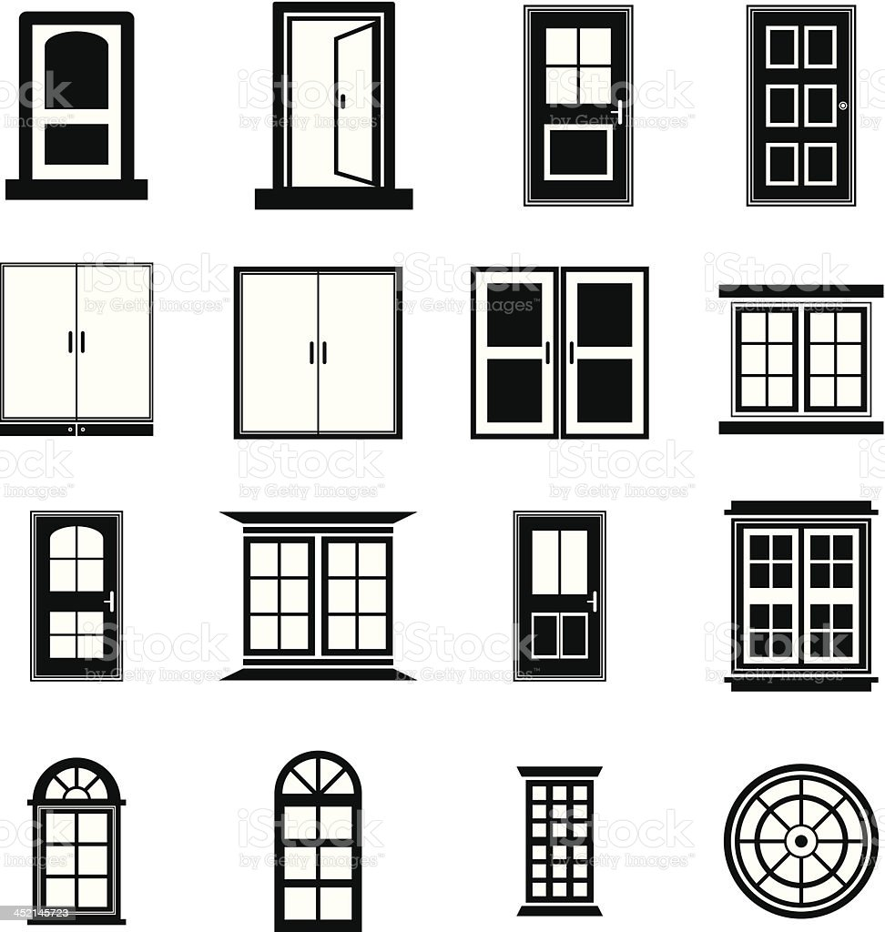 Door and Window vector vector art illustration