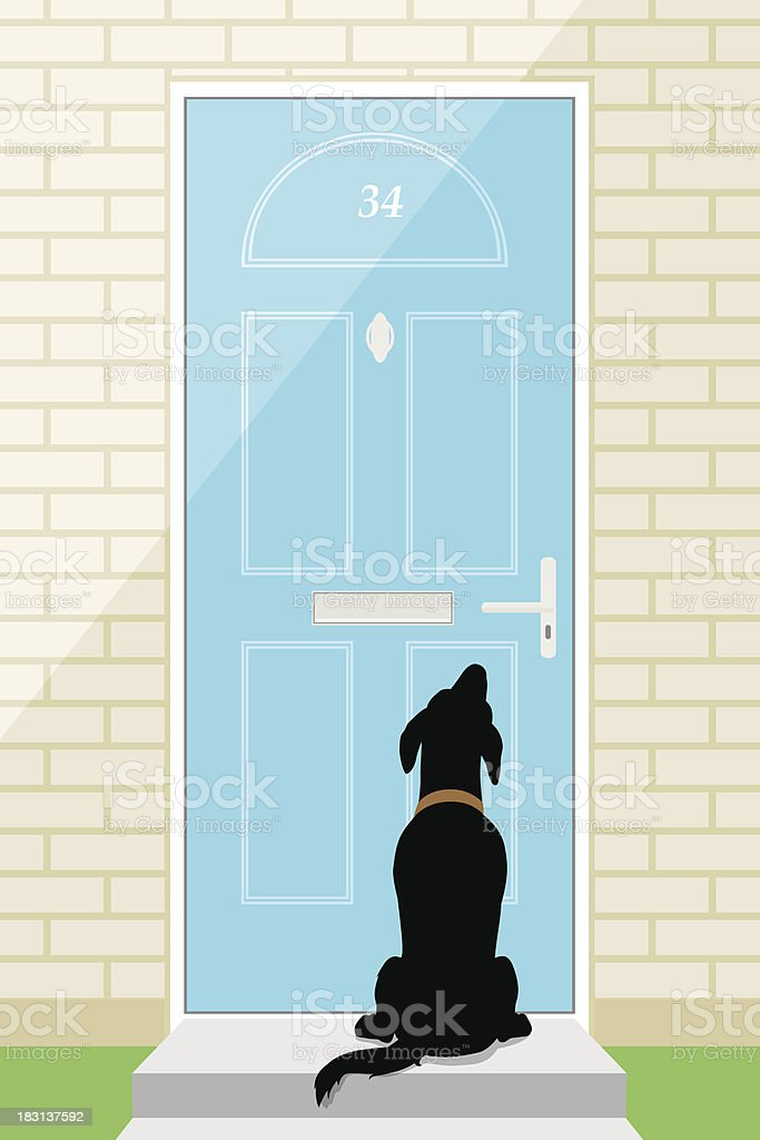 Door Dog Stock Vector Art 183137592 Istock