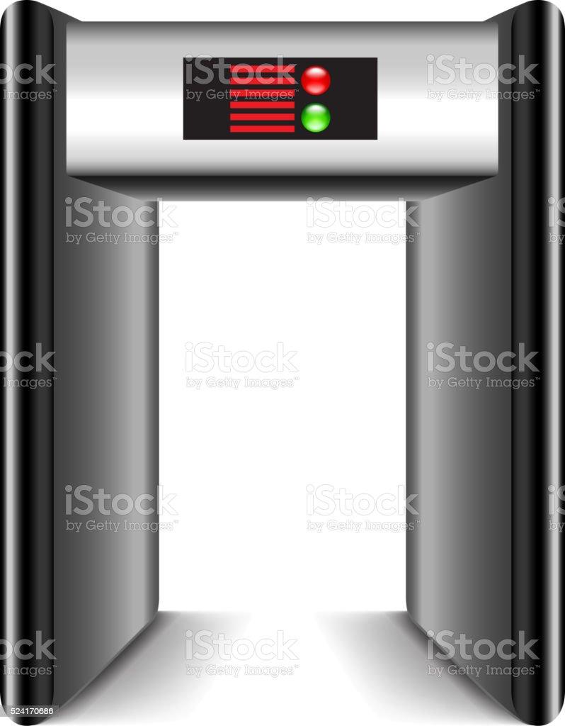 Door Frame Metal Detector Isolated On White Vector Stock Vector Art ...