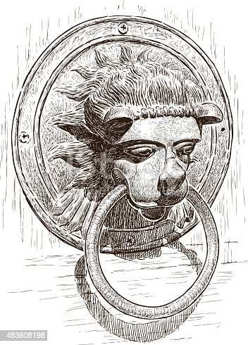Lion Head Door Knocker Vector For Free Ai Svg And Eps