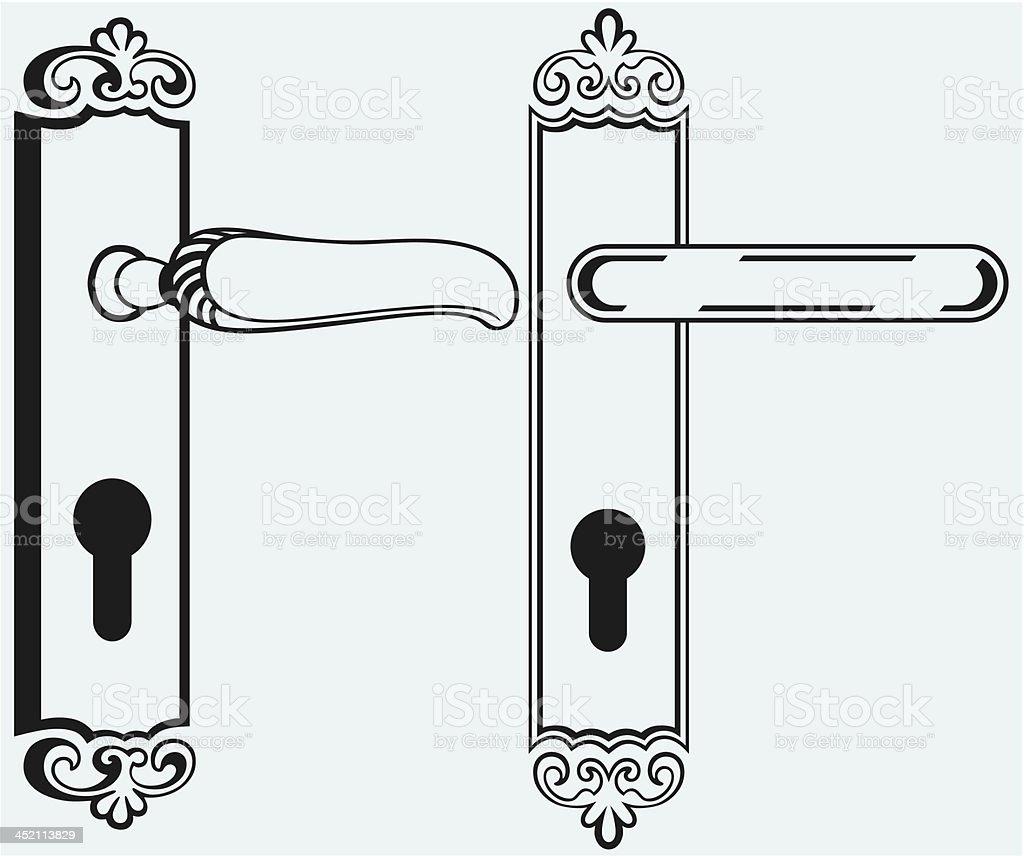 Door handle royalty-free stock vector art