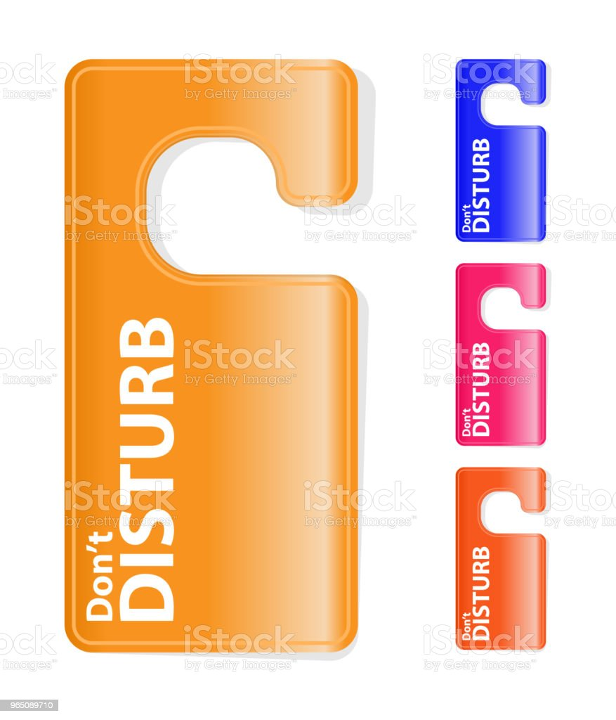 Door hanger flyer tags for room in hotel royalty-free door hanger flyer tags for room in hotel stock vector art & more images of business