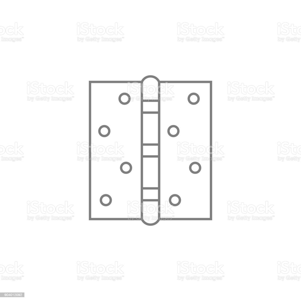 Door Hinge Icon Web Element Premium Quality Graphic Design Signs