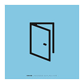 istock Door Icon 1166408870