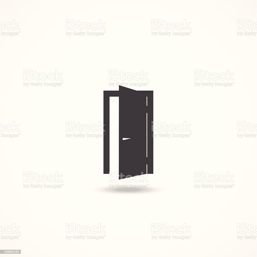 Door icon vector art illustration
