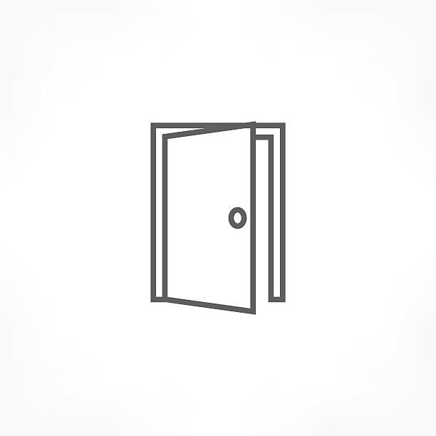 ドアのアイコン - 玄関点のイラスト素材/クリップアート素材/マンガ素材/アイコン素材