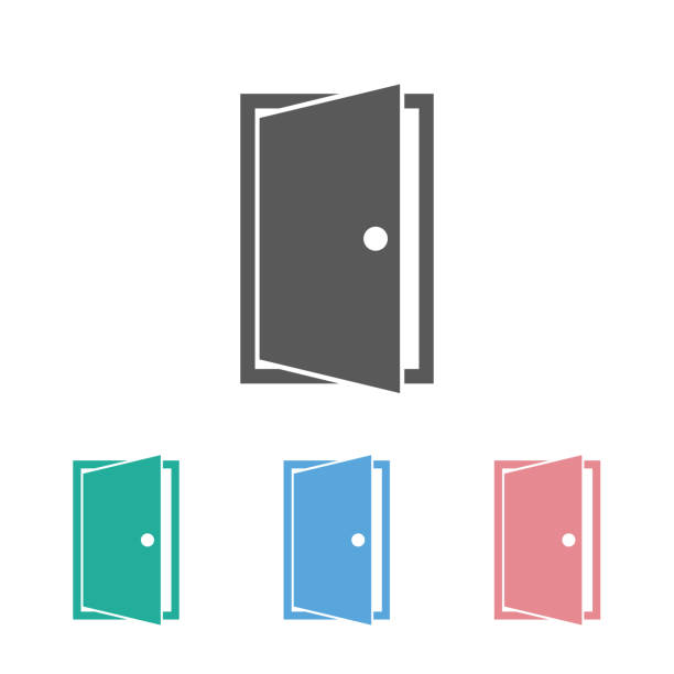 door icon door icon door stock illustrations