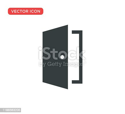 Door Icon Vector Illustration Design