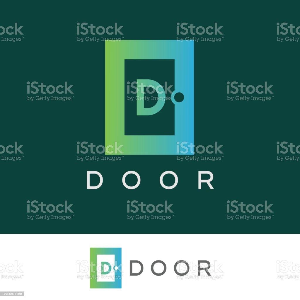 Conception Dicône Porte Initiale Lettre D Vecteurs Libres