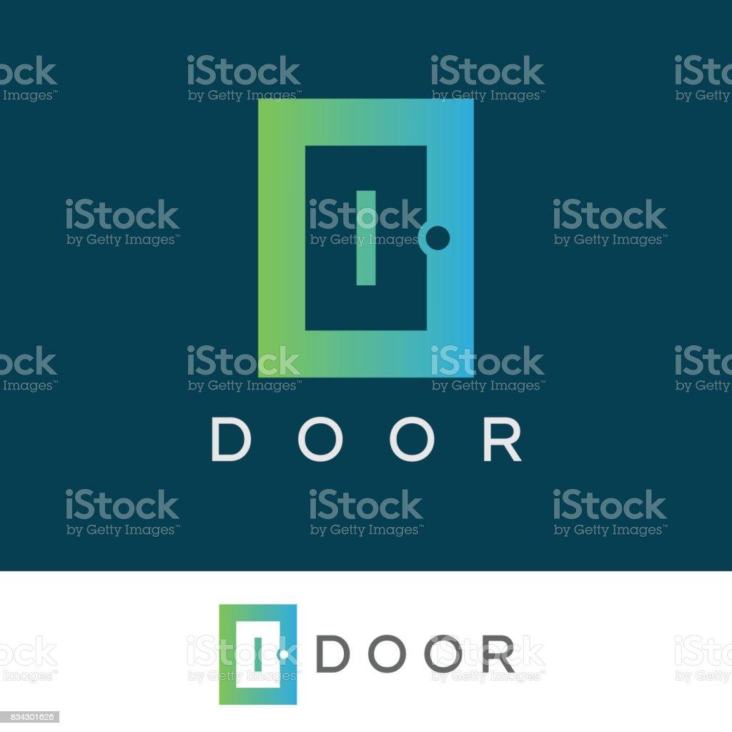 door initial Letter I icon design vector art illustration