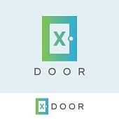 door initial Letter X icon design