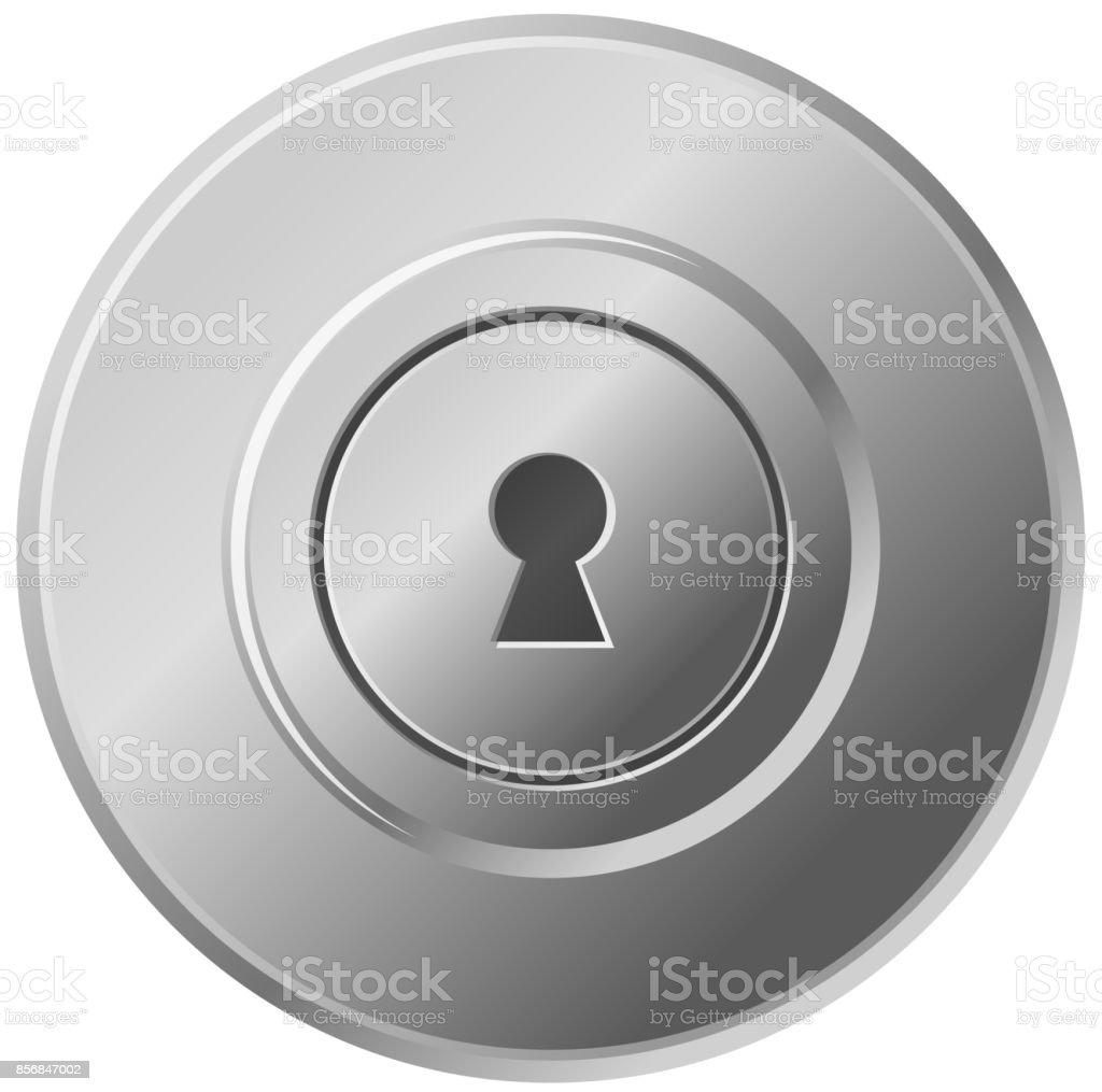 door knob front view vector icon art illustration door knobs45 door