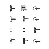door knobs icon set