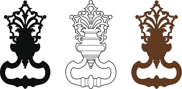 türklopfer - türklopfer stock-grafiken, -clipart, -cartoons und -symbole