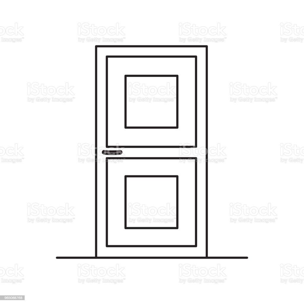 door line icon royalty-free door line icon stock vector art & more images of azerbaijan
