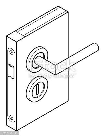 Door Lock Diagram Stock Vector Art More Images Of Australia