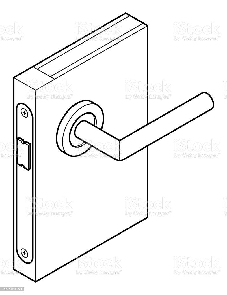 Ilustración de Esquema De Cerradura De Puerta y más banco de ...
