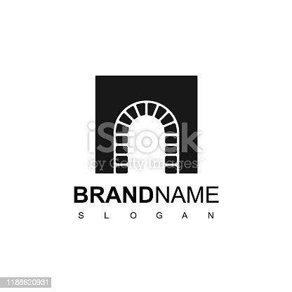 Brick Door Symbol Design For Luxury And Classic Real Estate Company Icon