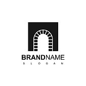 Brick Door Symbol Design For Luxury And Classic Real Estate Company Icon
