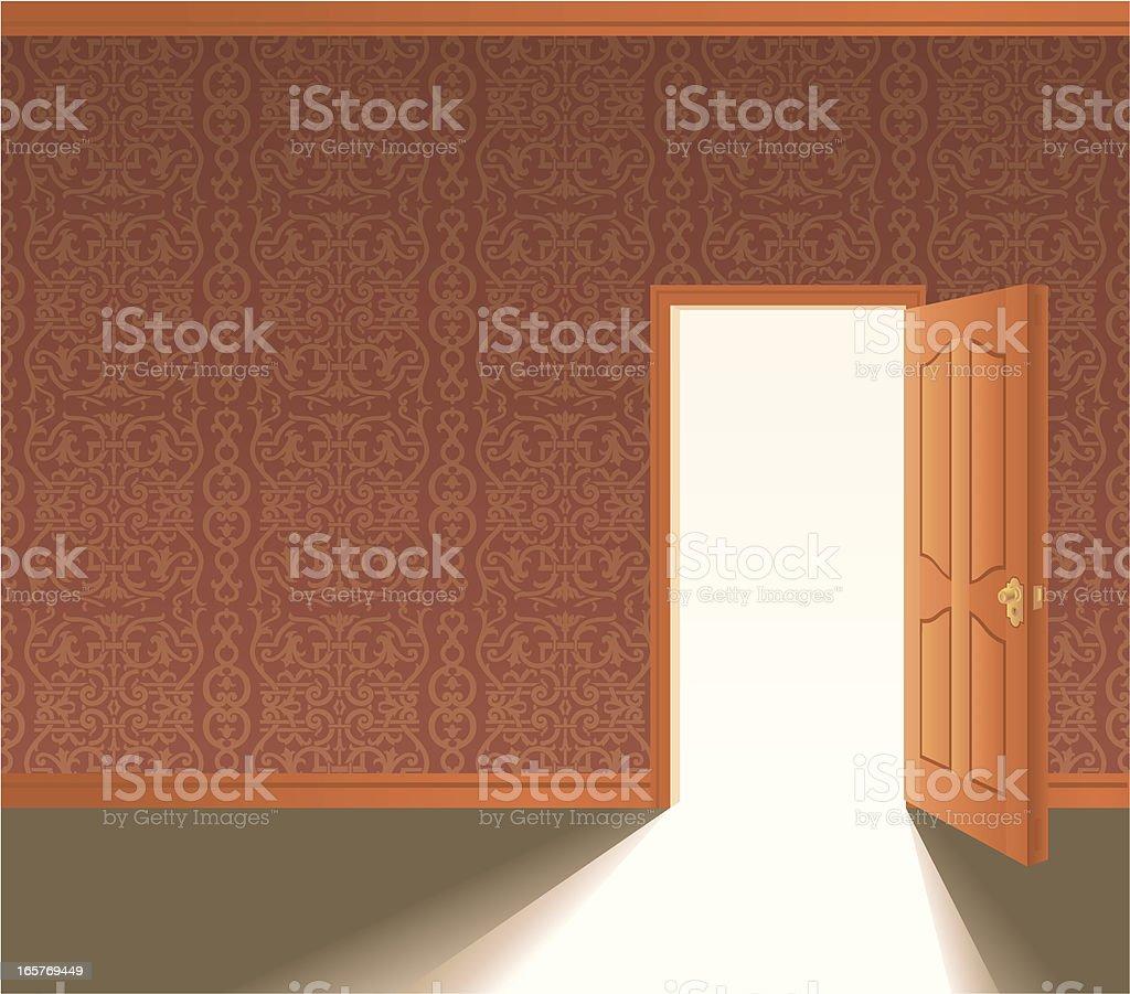 Door Opens royalty-free stock vector art