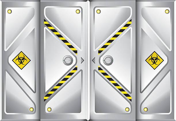Door Space Ship Background. Vector Illustration Door Space Ship Background. Vector Illustration vehicle door stock illustrations
