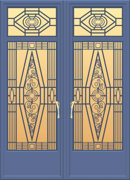 door - architecture borders stock illustrations