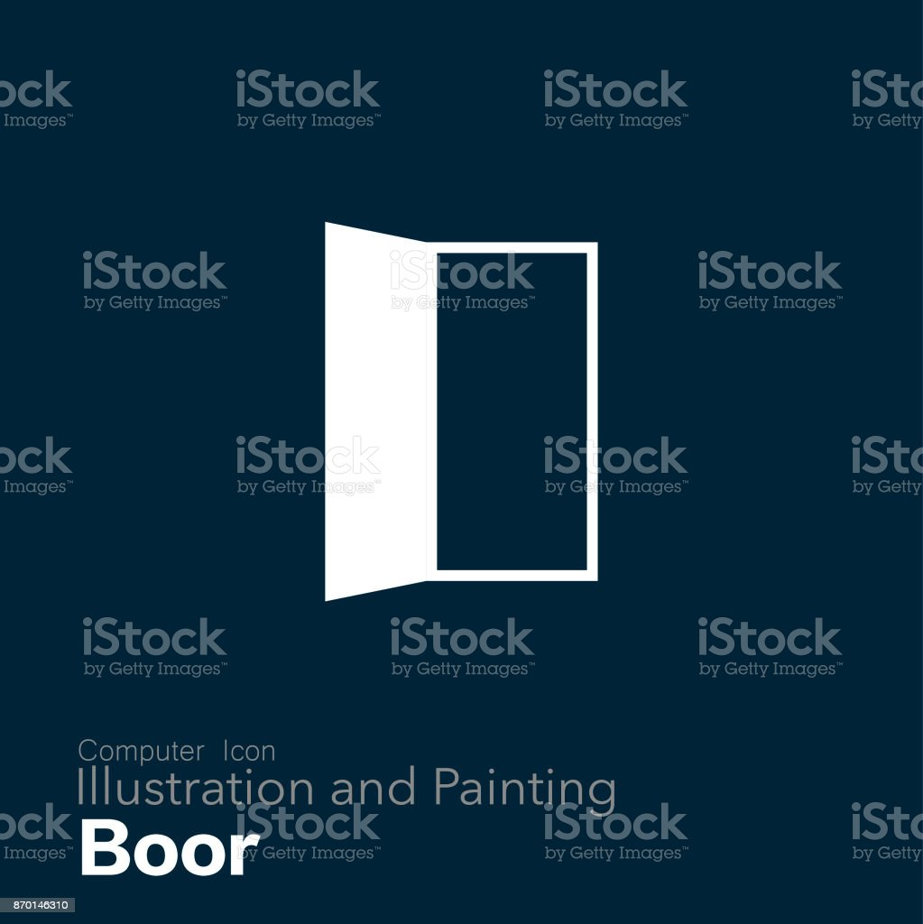 door vector art illustration
