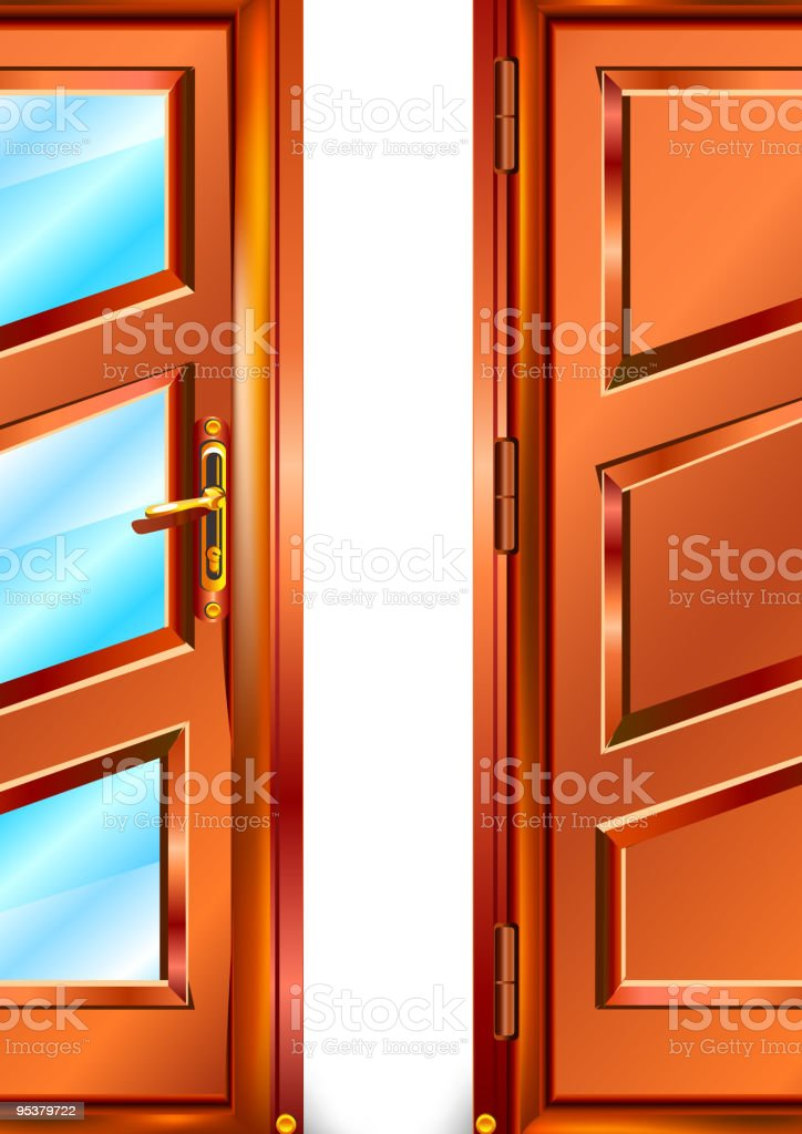 Door royalty-free stock vector art