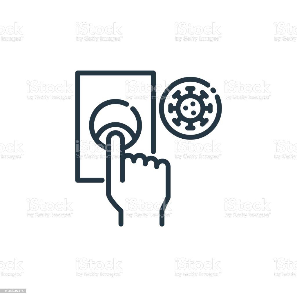 Kapı Zili Vektör Simgesi Doorbell Editable Vuruş Web Ve Mobil Uygulamalar  Logo Basılı Medya Kullanımı Için Kapı Zili Doğrusal Sembolü İnce Çizgi  Çizimi Vektör Yalıtılmış Anahat Çizimi Stok Vektör Sanatı & ABD'nin