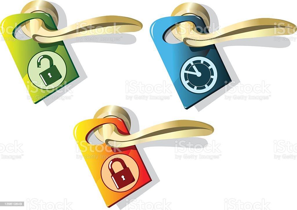 doorknob with pointer royalty-free stock vector art
