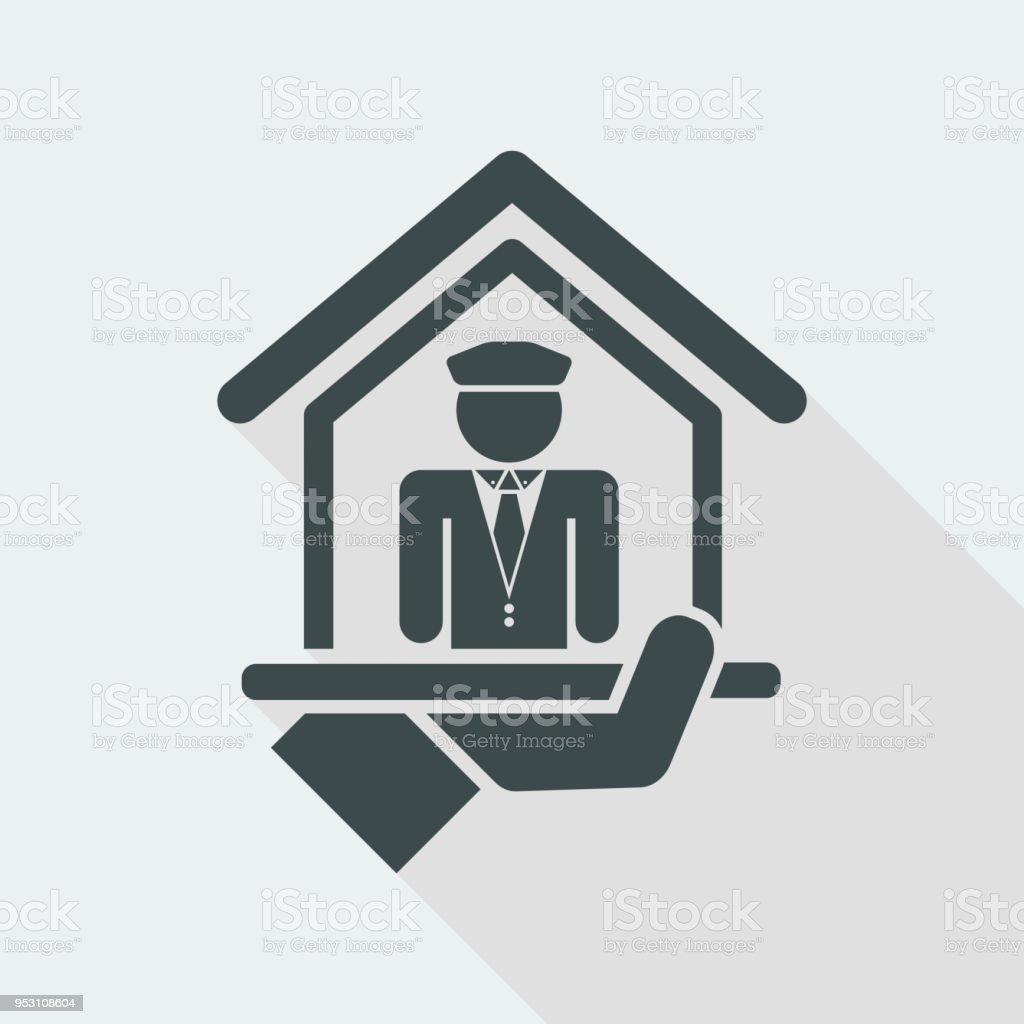 Doorman icon vector art illustration