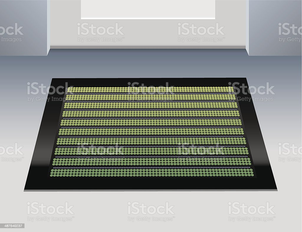 Doormat Green vector art illustration