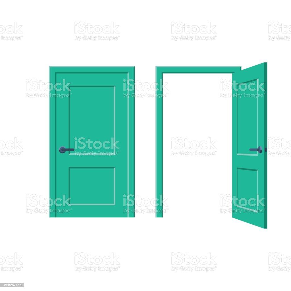 Geschlossene und offene Türen Lizenzfreies geschlossene und offene türen stock vektor art und mehr bilder von architektur